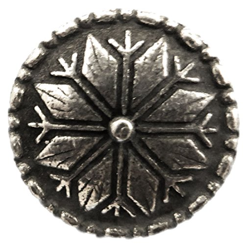 "Selbu Knapp - Flower/Snowflake Pewter Button 20MM - 13/16""."