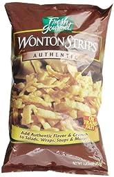 Fresh Gourmet Wonton Strips, 1 Pound