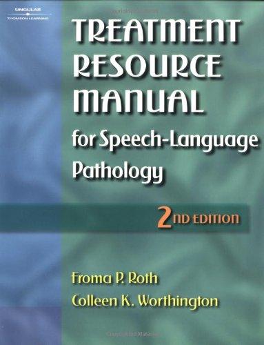 Treatment Resource Manual for Speech-Language Pathology