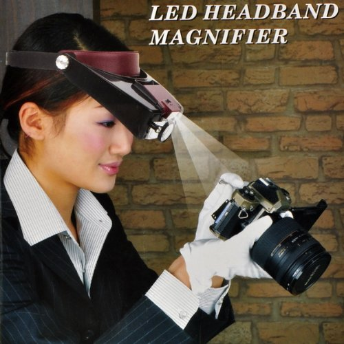 10X LED Head Light Headband Magnifier Magnifying Glasses Loupe Watch Repair