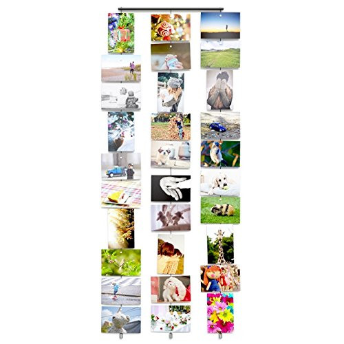 Wall Mount Hanging Photo Organizer Holder Cable Set With Magnets (Picture Hanging Magnets compare prices)