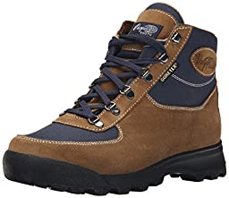 Vasque Men\'s Skywalk Gore-Tex Backpacking Boot, Olive/Dress Blues, 11.5 W US