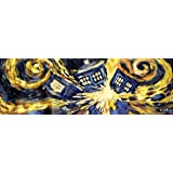 Doctor Who Exploding Tardis TV Show Poster (Van Gogh's Exploding Tardis) Poster Print 12x36