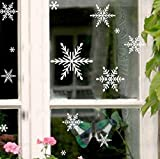 Ferris Store DIY Christmas Snowflakes Home Shop Store Window Glass PVC Removable Decals Stickers 16.9x10.7