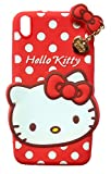 MACC Designer Soft Back Cartoon Cover Case Silicon 3D For HTC Desire 816 - HK With Pendant - Red