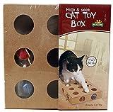 WOpet【 猫 用 おもちゃ 】 ころころ ボール ボックス 木 製 ねこ じゃらし 器 運動 不足 ストレス 解消
