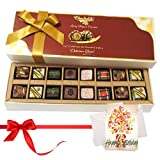 Stylish Chocolates With Birthday Card Hamper - Chocholik Belgium Chocolates