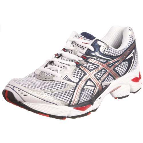 Asics Men's Gel Cumulus 12 Running Shoe White/Lightning/Navy T0A1N0193 8 UK