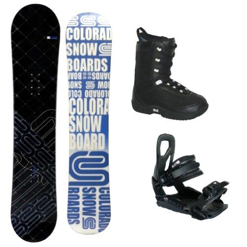 """Snowboardset CSB """"Colorado Black/Blue"""" 150 cm + Bindung Snow Pro """"X-Pro"""" + Softboots """"C 20"""""""