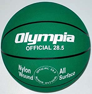 Intermediate Women Green Rubber Basketballs - Set Of 6 by Olympia Sports
