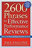 img - for 2600 Phrases for Effective Performance Reviews: Ready-to-Use Words and Phrases That Really Get Results by Paul Falcone (2005-06-10) book / textbook / text book