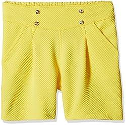 Little Kangaroos Girls' Shorts  (11564_Yellow_8 year)