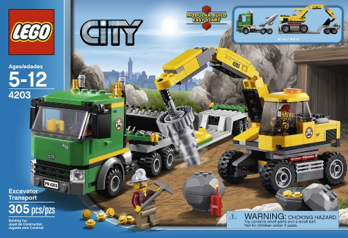 LEGO City: Excavator Transport 4203 Amazon.com