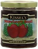 Kissels Spiced Jam, Strawberry Basil, Gluten Free, 10-Ounce (Pack of 3)