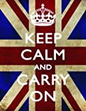 S2454 KEEP CALM AND CARRY ON METAL ADVERTISING WALL SIGN