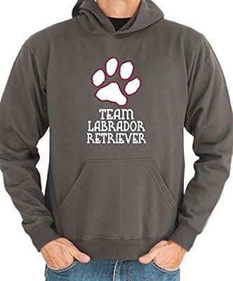 Labrador Retriever TEAM DOG PAW Men Hoodie