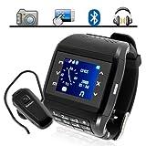 New Q8 Watch Mobile Phone Watch Quad Band Dual Sim Dual Standby Spy Camera Bluetooth MP3/MP4/FM Unlocked