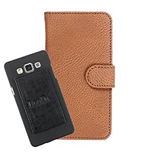 DooDa PU Leather Wallet Flip Case Cover With Card & ID Slots For MaBR GenxDroid7 AX5i - Back Cover Not Included Peel And Paste