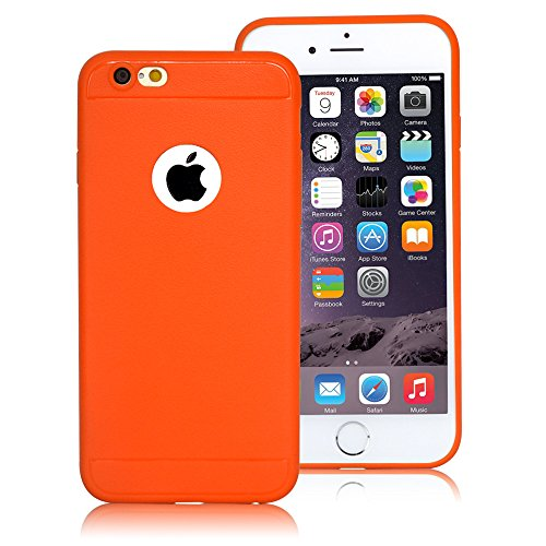 iPhone 6s/6 Case,LoTus[Scratch Resistant ] Jelly Orange Ultra Slim Flexible Soft Rubber TPU Gel Protective Cover perfect fit for iPhone 6/6s-with Small Little Gifts-Orange (Iphone 6 Soft Jelly compare prices)