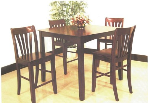 Picture of Acme Furniture Rich 5pcs Pack Dinette Set Counter Height Table/ Chair (VF_AZ02-9358) (Dinette Sets)