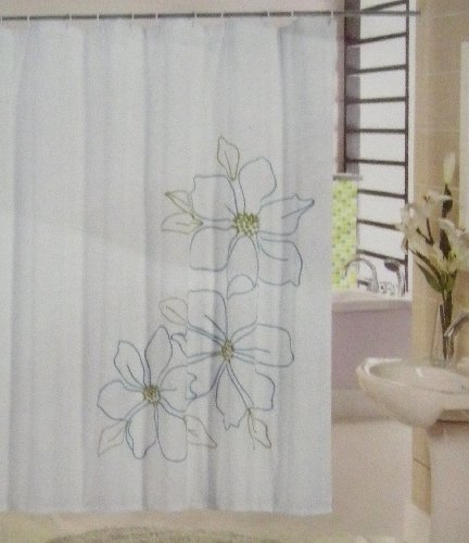 Laura Ashley Seaspray Curtains Pastel Green Shower Curtain