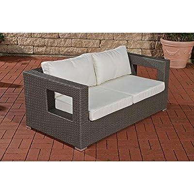 2er Sofa Honolulu, grau von CLP bei Gartenmöbel von Du und Dein Garten