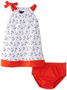 Nautica Baby-Girls Infant Anchor and Dot Print Dress from Nautica