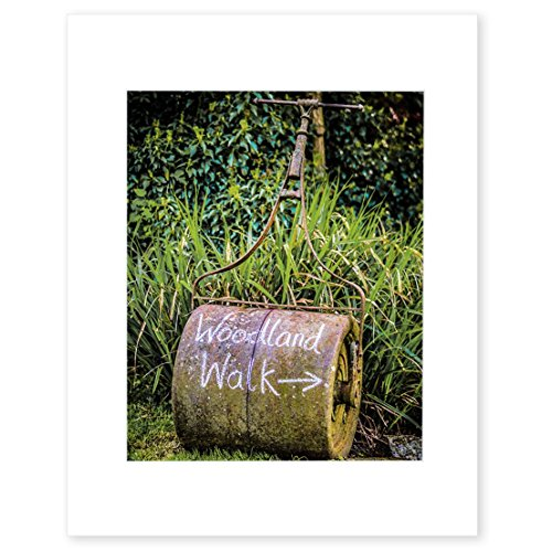 8x10-matted-photographic-print-english-garden-rustic-wall-art-grass-roller