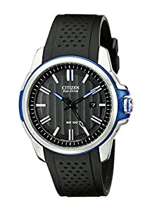 Citizen Men's Eco-Drive AR 2.0 Stainless Steel Watch with Black Polyurethane Band