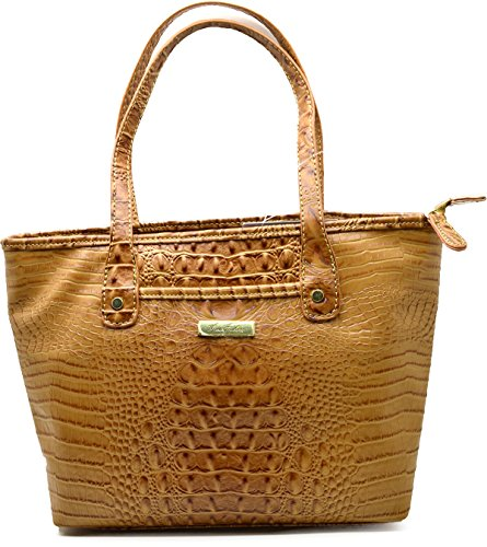 Marc Fisher Day by Day Croco Small Shopper Tote Bag Handbag (Camel) (Marc Fisher Day By Day Bag compare prices)