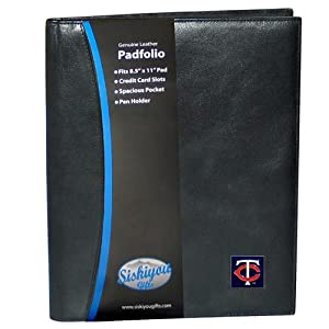 MLB Minnesota Twins Leather Portfolio by Siskiyou Sports