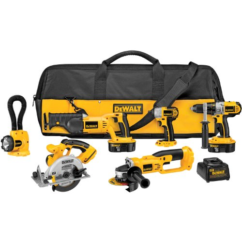 New DEWALT DCK655X 18-Volt XRP 6 Tool Combo Kit with Impact Driver