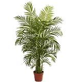 Nearly Natural 5389 Areca Palm UV Resistant Tree, 4.5-Feet, Green
