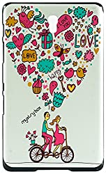 Purple Eyes Plastic New Glow Back Hard Case Cover for Samsung Galaxy Tab S T700 T705 (Multicolor)