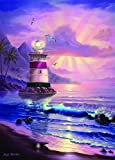 """Lighthouse """"Maui Sunrise"""" 1000 Piece Jigsaw Puzzle By Jeff Wilkie - Includes 100 Whimsy Pieces"""
