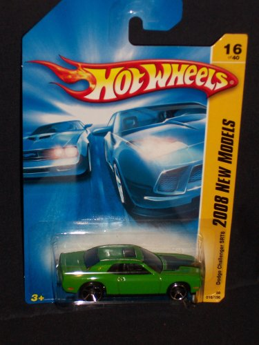 Hot Wheels 2008 016 New Models Dodge Challenger SRT8 Green SRT 8 2008 16 - 1