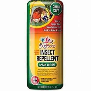 Bugband Insect Repellent Natural Geraniol 3 Oz Spray Lotion Deet Free Insect