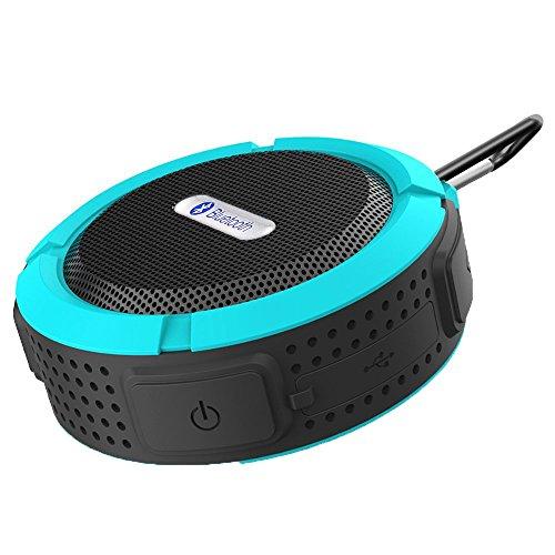 VicTsing Mini Enceinte Portable sans fil Bluetooth V3.0 - Etanche - Rechargeable - 5W 145g IPX5 Anti-Choc-Bleu