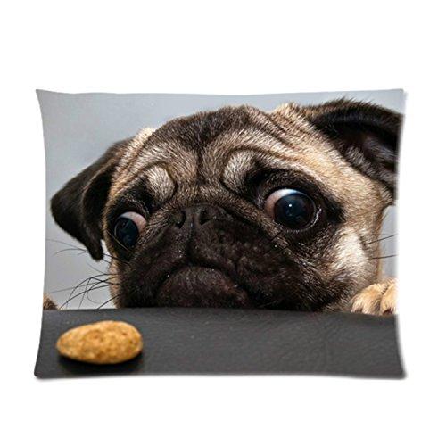 Leaveland Pug Dog Custom Pillowcase 12 x 20 Inches