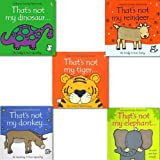 That's Not My... Collection, 5 Zoo Animal Books set (not my tiger, not my donkey, not my reindeer, not my elephant, not my dinosaur)