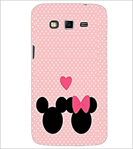 PrintDhaba Mickey and Minnie D-2237 Back Case Cover for SAMSUNG GALAXY GRAND 2 (Multi-Coloured)