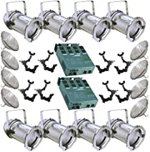 8 Silver PA RCAN 56 300w PAR56 MFL 2 Dimmer O-Clamps