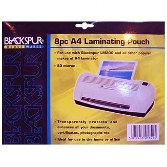 Blackspur A4 Laminating Pouches 8 Pack x 2