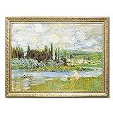 風景画 インテリア モネ Vetheuil sur Seine 1880 MW-18067 絵画 名画シリーズ