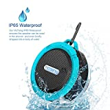 VicTsing Shower Speaker, Wireless Waterproof Speaker with 5W Drive, Suction Cup, Buit-in Mic,