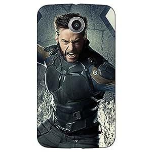 Jugaaduu Wolverine Hugh Jackman Back Cover Case For Google Nexus 6