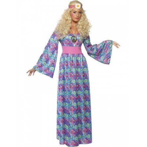 1960s or 1970s Long Hippie Dress Outfit for Fancy Dress. Sizes 8-22