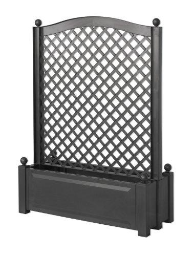 khw 37105 pflanzkasten mit zentral spalier 100 cm anthrazit on sale. Black Bedroom Furniture Sets. Home Design Ideas