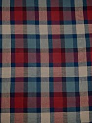 Indian Fabtex Men Cotton Multicolor Unstitched Checkered Shirt Fabric VTM-121-04