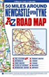 50 Miles around Newcastle Road Map